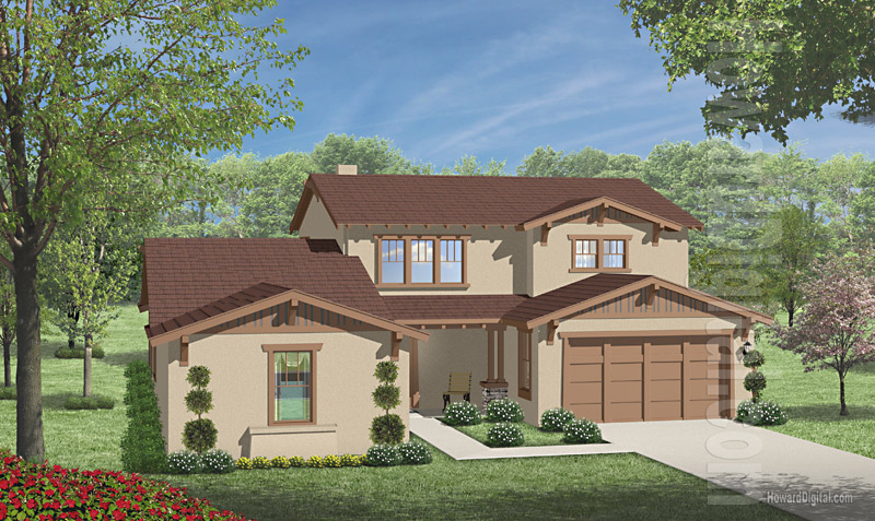 House Illustration Home Rendering Mcallen Texas