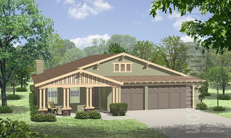 House Illustration - Home Rendering - Odessa - Texas - House
