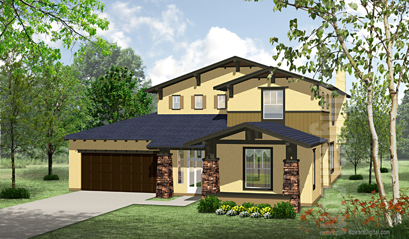 House illustration home rendering san angelo texas for Home builders san angelo tx