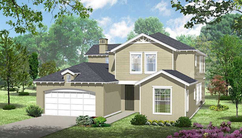 House illustration home rendering beckley west for Home builders beckley wv