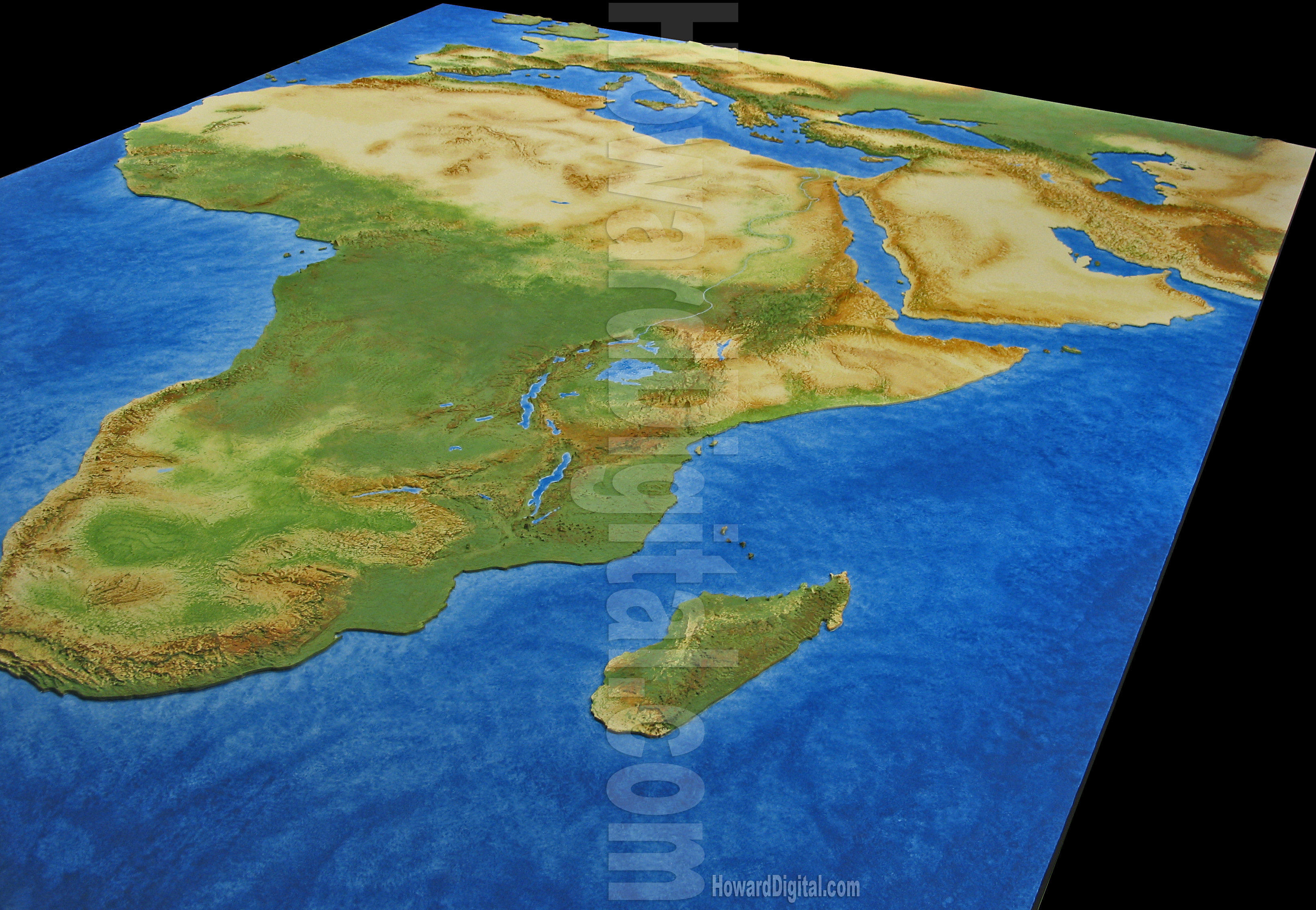 Map Of Africa 3d.Landform Models African Model Howard Models