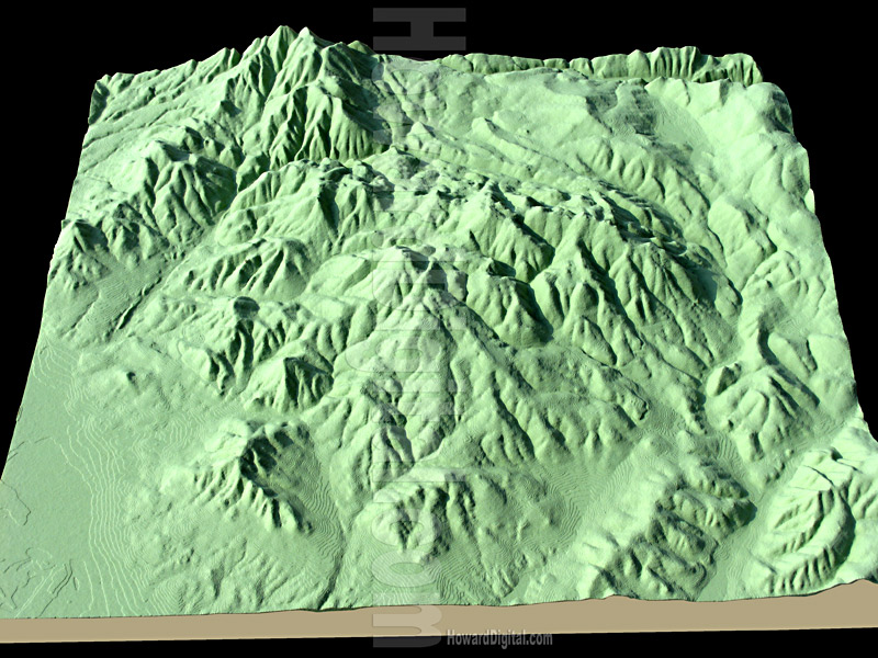 Idaho Models - Topographic Models - Idaho Topo Topographic ...