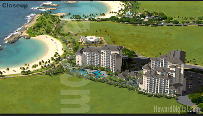 Architectural Rendering Beach Villas At Ko Olina Resort Oahu Hawaii Hi
